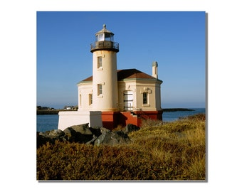 Coquille River Lighthouse Fine Art Photograph - Lighthouse Photos - Rustic Lighthouse Wall Decor - Rustic Beach House Wall Art