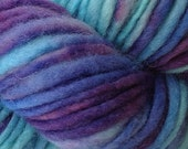 Bulky / Chunky Weight Hand Painted Wool Yarn Pencil Roving in Twilight Sky 60 yards