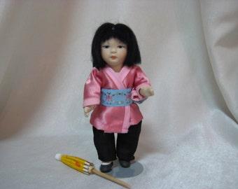 Handmade Asian Bisque Doll Michele R. Severino Doll Artist