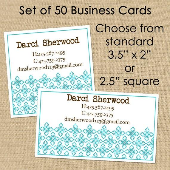 Darci (Mod Ornamental) 50 Custom Business or Calling Cards