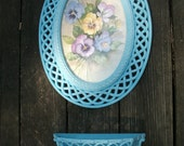 Faux Wicker Rattan Homco Pansy Picture Frame and wicker rattan wall pocket