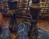 Spooky, grungy Halloween Candle Sticks   Faap  ofg