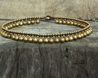Brass Bell Necklace