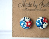 Fabric Button Earrings - Royal Blush - Buy 3, get 1 FREE