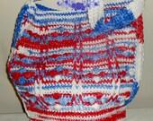 Let Freedom Ring Cotton Jewel Tote Bag - red, white, blue, cotton, crochet, market bag, tote, tote bag, bag, 4th of July, purse, handbag