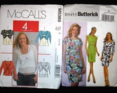 Lot of 5 Ladies Patterns - size 14-22 with Tank tops, blazers, dresses, wrap cardigan shrugs