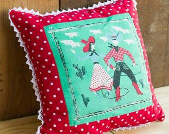 Vintage Hankie Pillow - Moda Sliced Bread - Men's Button-up Shirt - Western Christmas