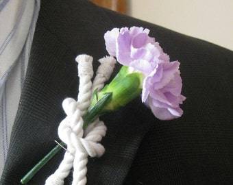 Nautical Boutonniere Reef Knot Rope Corsage