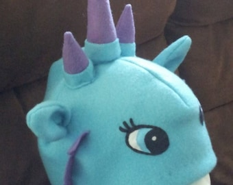 Handmade Crackle the Dragon hat in Aqua and Purple spikes inspired by Sofia the First Disney Show / Crackle the Dragon Costume / Cartoons