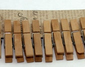 "2"" Tea Stained Clothespins, Vintage Wedding, Party Supplies, Wish Tree Clips, Photo Clips, Wedding Favors, Rustic Wedding, Woodland Wedding"