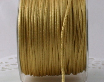 """Gold Satin Cord, Gold Necklace Cording, 1/8"""" wide by the yard, Jewelry Supplies, Crafts, Gift Wrapping, Gold Trim, DIY Wedding, Sewing"""