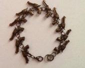 Bang Bang Bracelet in Antique Gold Finish