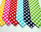 Gingham Neckties,  - Many Colors, Mens Neckties, Wedding Neckties, Custom Neckties