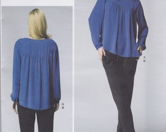 Vogue Pattern V1367 OOP Rebecca Taylor Very Loose-Fitting Pullover Top and Pull On Tapered Pant  Misses' Sizes 6 - 14