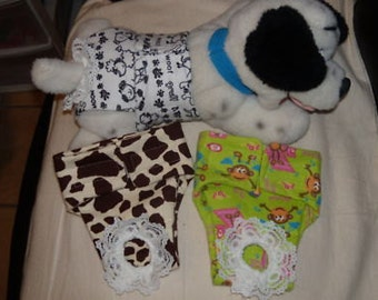 Dog diaper pattern to make male and female diapers, make your own and save money