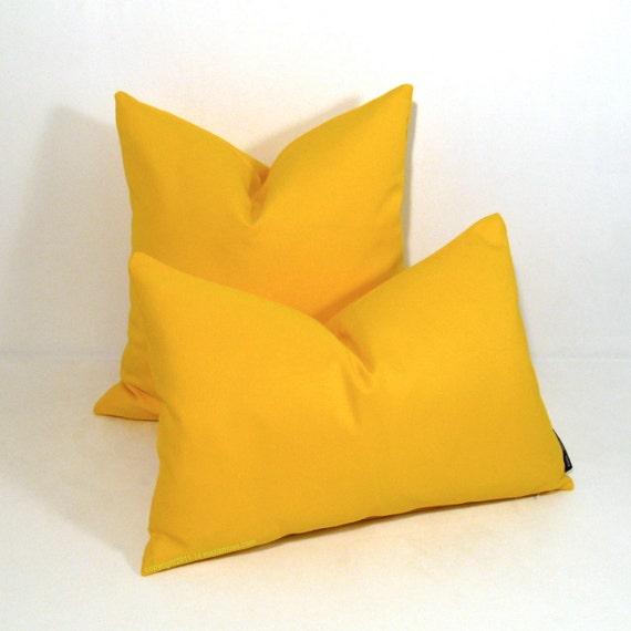 Outdoor Throw Pillows Yellow : Yellow Outdoor Pillow Cover Modern Sunbrella Pillow Cover