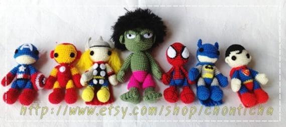 Amigurumi De Batman Patron : Super Heros Set PDF amigurumi crochet pattern