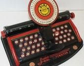 Marx Junior Dial TYPEWRITER Vintage Tin Litho Toy Made in the USA