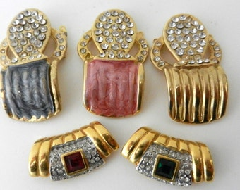 Job mix - beautiful elements, for beautiful creations - crystals & enamel-central for necklace Decorations,and clasps - 5Pieces-Art.458 -