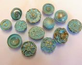 FREE SHIPPING Drawer Pulls Knobs Aqua Turquoise Robins Egg Collection Set of 13