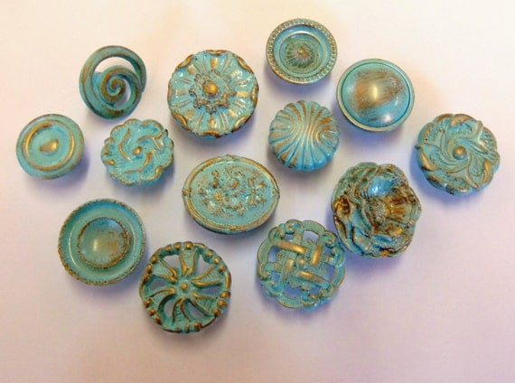 Drawer pulls knobs aqua turquoise robins egg by prettyware for Turquoise door knobs