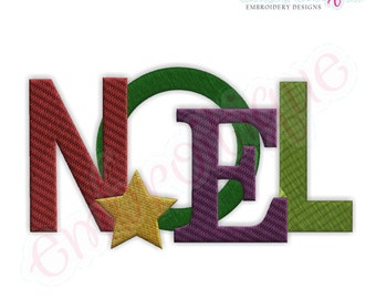Noel Jumbled Filled Holiday - Instant Email Delivery Download Machine embroidery design
