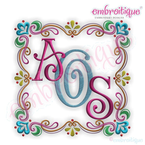 Font Frames Set - 8 of our Best Selling Machine Embroidery Monogram Font Frames- Instant Email Delivery Download Machine embroidery design