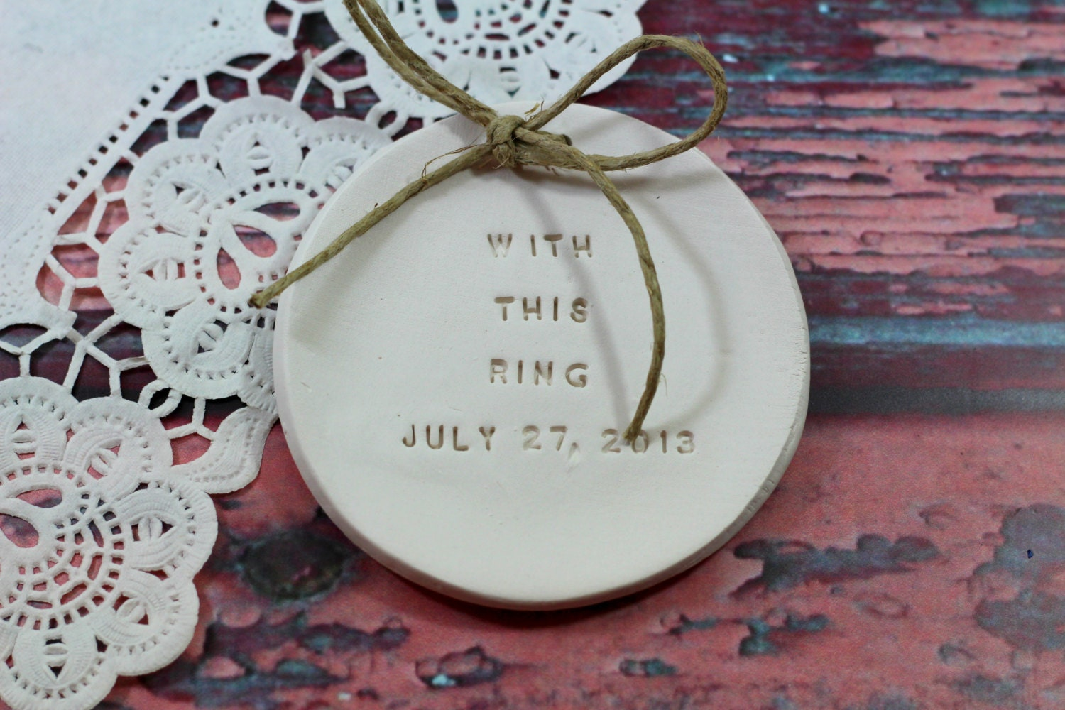 Personalised Wedding Gift Ring Dish : Personalized wedding ring dish Ring pillow by orlydesign on Etsy