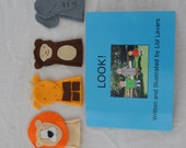 Picture Story book with Fingerpuppets - LOOK