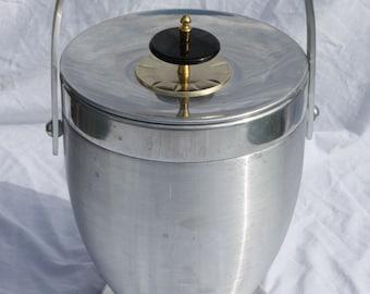 Vintage Mid Century Modern Kromex Aluminum Ice Bucket Champagne Bucket