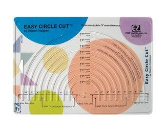 EZ Quilting Easy Circle Cut Ruler - 9 Circle Sizes New
