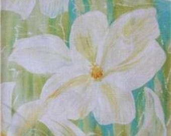 Southern Je Ne Sais Qu Multi Magnolias Large Floral Flower Frond Fabric Yard