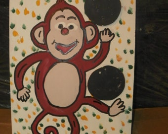 Monkey   toss  game   with 4 bean bags