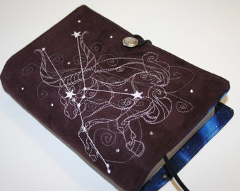 Taurus Embroidered Book Cover