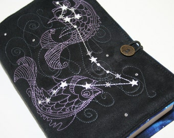 Pisces  Embroidered Book Cover