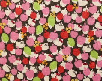 SALE - Liberty tana lawn - Apple Tree  - Hello Kitty printed in Japan  - Pink mix