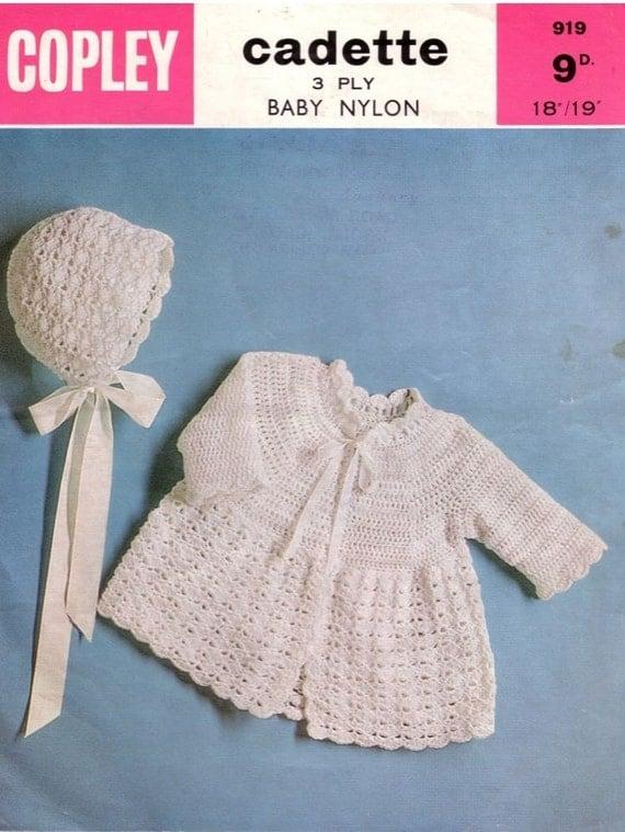 Vintage Baby CROCHET PATTERN Baby Matinee