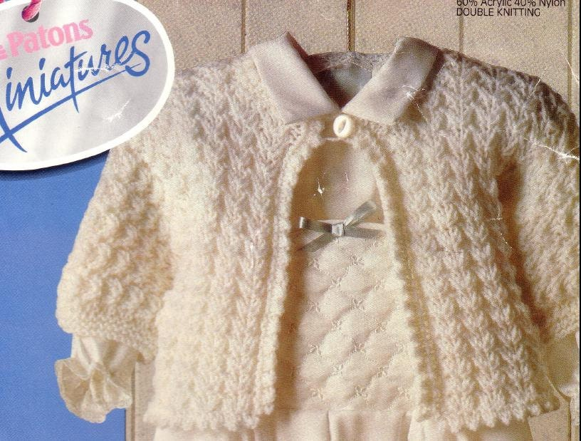 Knitting Pattern Baby Matinee Jacket : Baby Knitting PATTERN Matinee Jacket/Sweater in DK 16 20