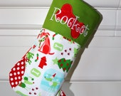 Christmas Stocking - Don't forget your DOG-- CHOOSE from 19 beautiful stockings  Personalized- Pet stocking.. dog stocking