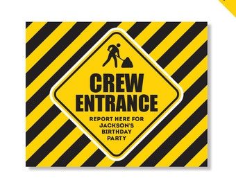 Construction Party - Personalized DIY printable sign