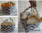 Add Extra long handles for your purchased diaper caddy or fabric organizer bin