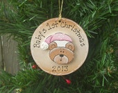 Baby's First Christmas Ornament, Personalized Free - TimelessTreasuresbyK