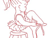 Vintage 'BORN TO DANCE' 5x7 Machine Embroidery Design