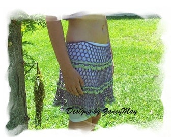 Summer Lace Skirt Crochet Pattern in PDF