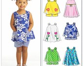 Little Girls' Sundress Pattern, Toddlers' Top and Shorts Pattern, Size 1 to 4, McCall's Sewing Pattern 5416