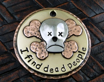 Skull and Crossbones Cadaver Dog ID Tag-Dog Tag for Dogs