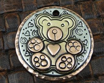 Dog ID Tag Teddy Bear-Custom Dog Collar ID Tag-Pet ID Tag-Dog Tag for Dogs-Teddy Bear Tag