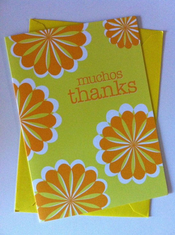 Muchos thanks Greeting Card Spanish Card Blank Note Card – Funny Spanish Birthday Cards