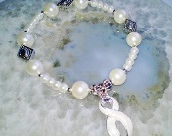 """Multiple Sclerosis Bracelet (269) 6 1/2"""", cancer awareness, cause jewelry, cause bracelet, awareness bracelet, cancer support"""