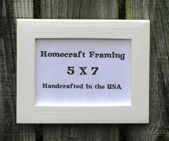 5x7 picture frame wedding frame white cottage by homecraftframing. Black Bedroom Furniture Sets. Home Design Ideas